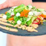 aderezo de hierbabuena para ensaladas